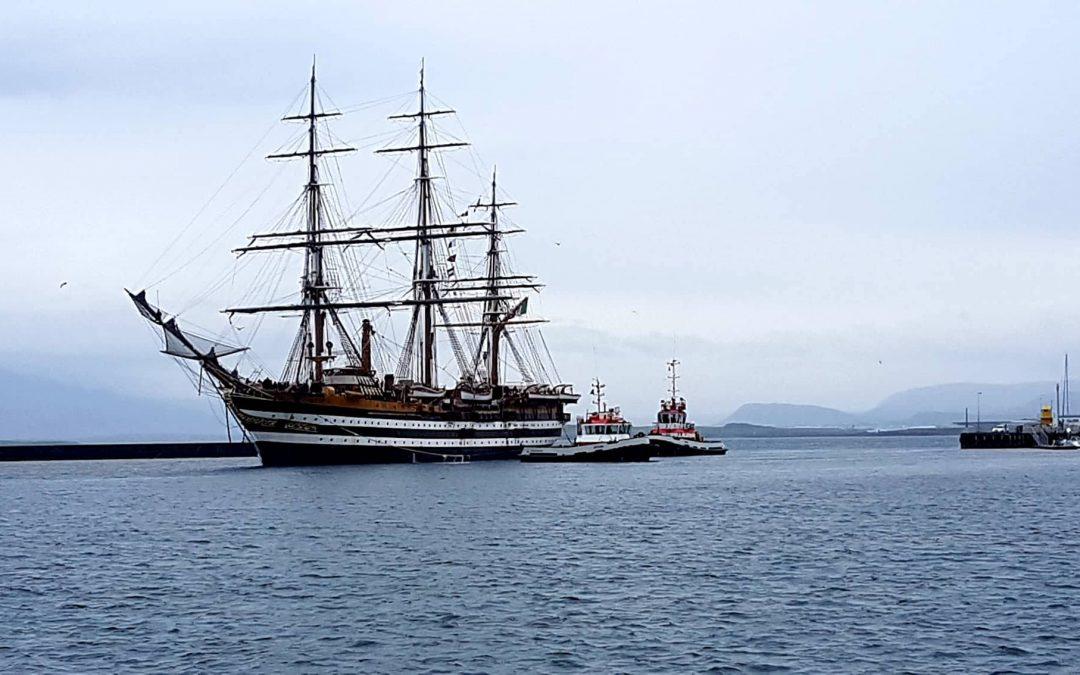 Ítalska seglskútan, Amerigo Vespucci, opin fyrir almenning um helgina !