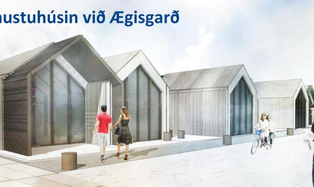 Framkvæmdir við söluhús og umhverfi við Ægisgarð